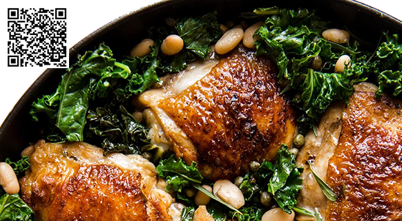 Chicken with kale and White Beans Foodie Body Bioinformatics
