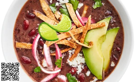 Red Bean and Quinoa Tortilla Soup Foody Body bioinformatics